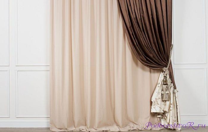 Материал шторы: шелк