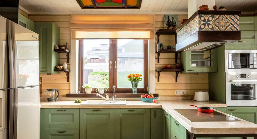Римские шторы на кухню: удобный и практичный вариант для украшения окна
