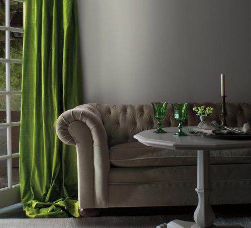 Травяной цвет штор
