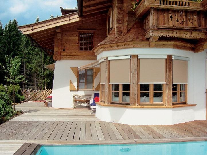 шторы на веранде
