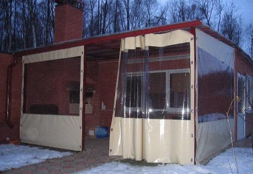 Прозрачные шторы для дачи