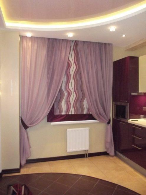 Фото римских штор в интерьере