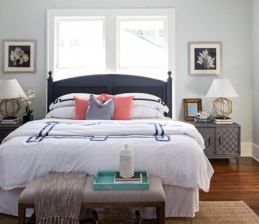 Спальня должна быть самым комфортным местом в доме, поэтом при выборе отделки и декора стоит обращать внимание на то чтобы цвета были спокойными и не кричащими