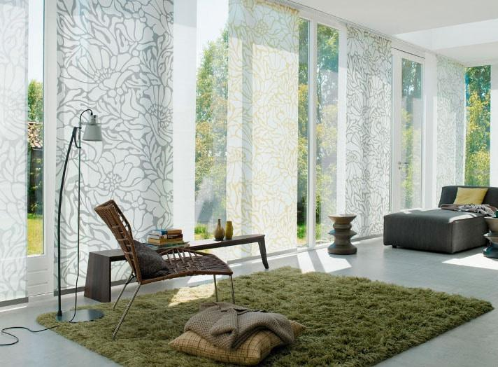 панельные шторы с узорами