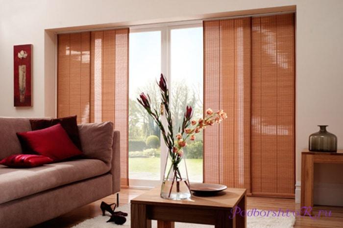 Панельные шторы из бамбука