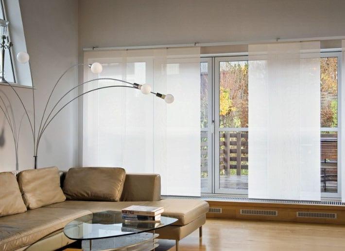 белые панели для штор
