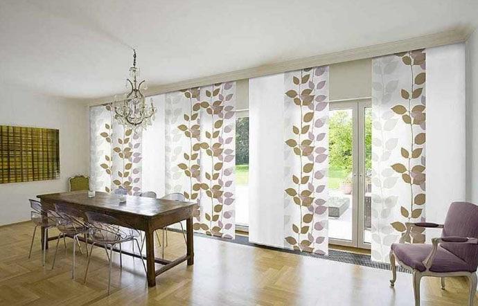 Панельные шторы с принтом