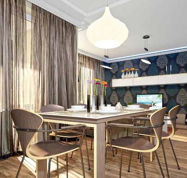 эксклюзивные шторы в интерьере кухни