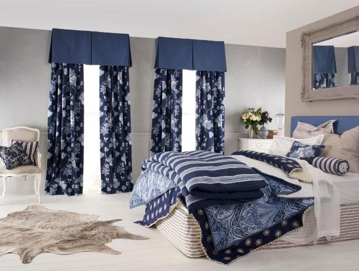 эксклюзивные шторы в интерьере спальни