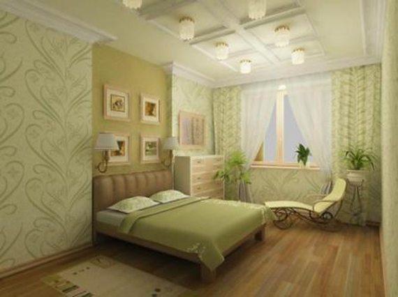 Согласитесь, искусная игра оттенками на фото делает эту спальню очень уютной