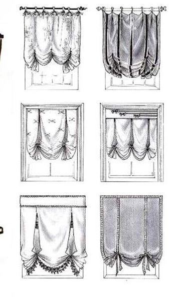 Виды английских штор: различие в количестве и направлении складок