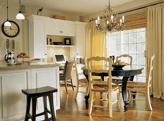 Правильное сочетание элементов декора сделает вашу столовую стильной и уютной