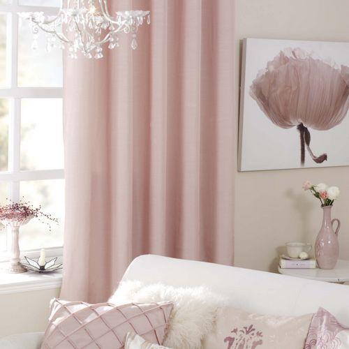 оттенки розовых штор