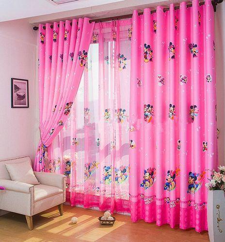 Детские розовые шторы