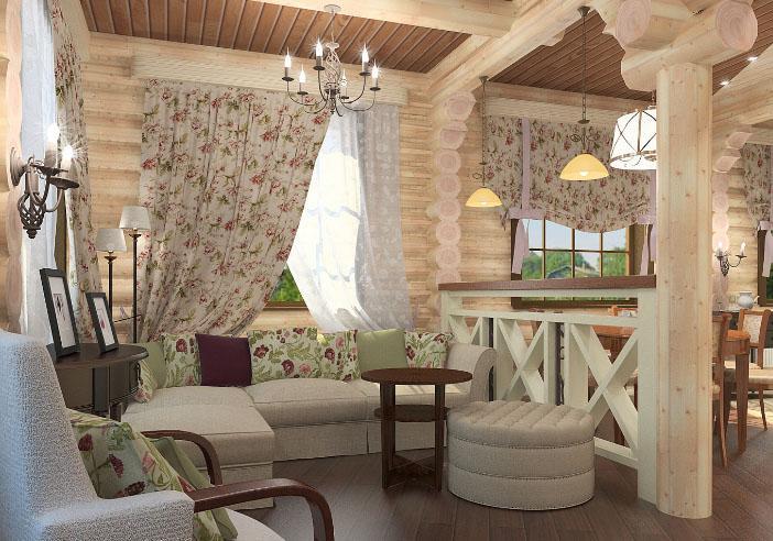 шторы в деревенском стиле