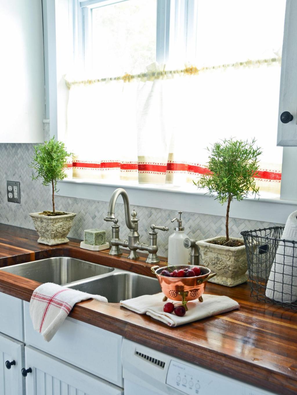 Занавески простые деревенские на кухню