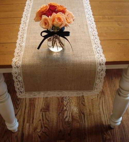 предметы декора из мешковины