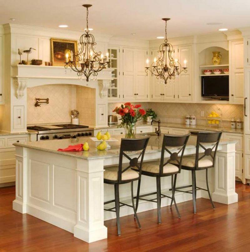 Furniture Country Western Kitchen Design With White Wooden Cabinet And Ceramic Backsplah Plus Marble Top Island With Wooden Base Under Black Metal Hanging Throughout Western Kitchen Cabinets - zaidahejab.com