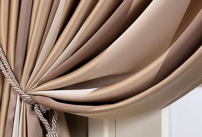 Оттенки коричневого в рисунке портьерной ткани