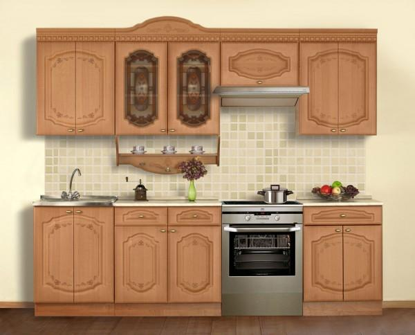 Кухонный гарнитур с карнизом