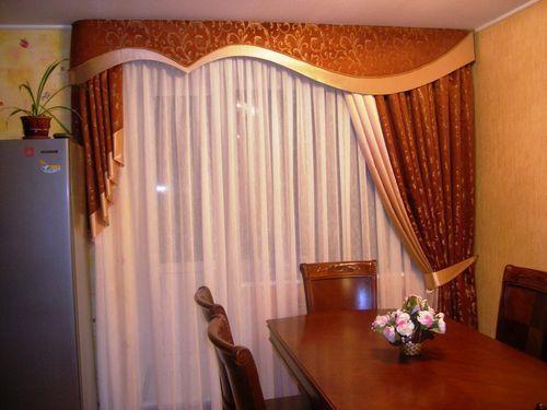 шторы ламбрекены для кухни