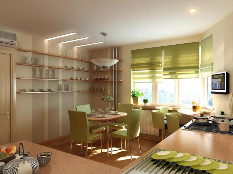 римские модели оливковой расцветки в кухне