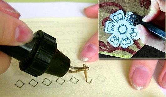 Гильоширование: мастер-класс для начинающих. Техника выжигания по ткани, салфеткам, схемы, трафареты цветов, картин, ламбрекенов, циферблата
