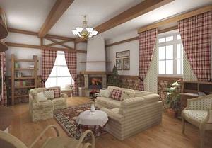Шторы для гостиной - создаем красивую комнату в дачном доме