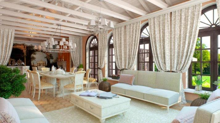 Средиземноморский стиль штор