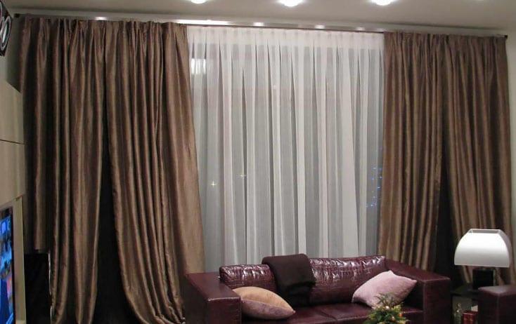 контраст тюли и штор