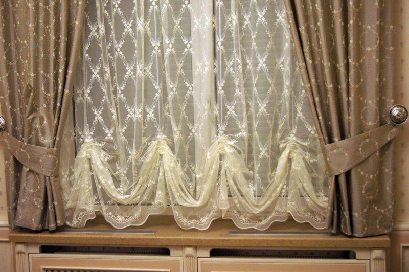 Французские шторы - фото красивого оформления в интерьере