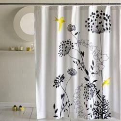 Шторка из ткани в ванную