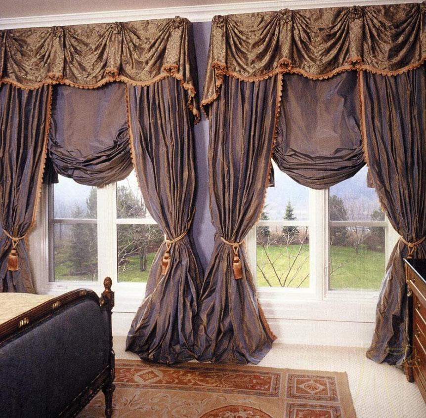 шикарные шторы в стиле Австрия