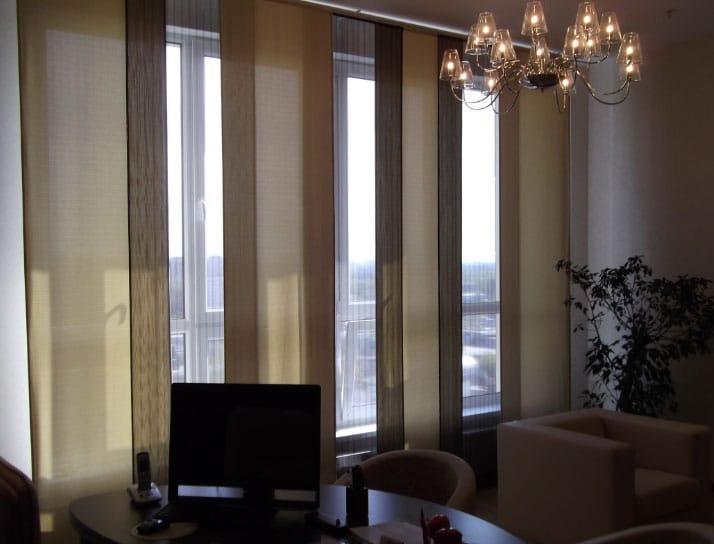 красивые узкие шторы