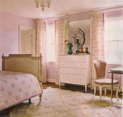 Узор штор к розовым обоям