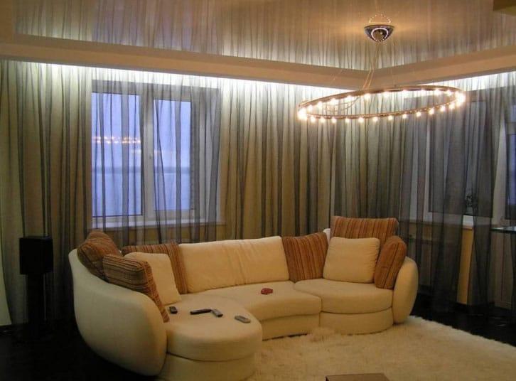 уютная подсветка штор