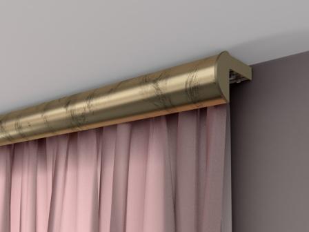 Потолочный карниз со шторами