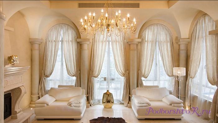 Шикарные шторы для богатого дома