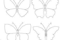Варианты бабочек из бумаги для штор