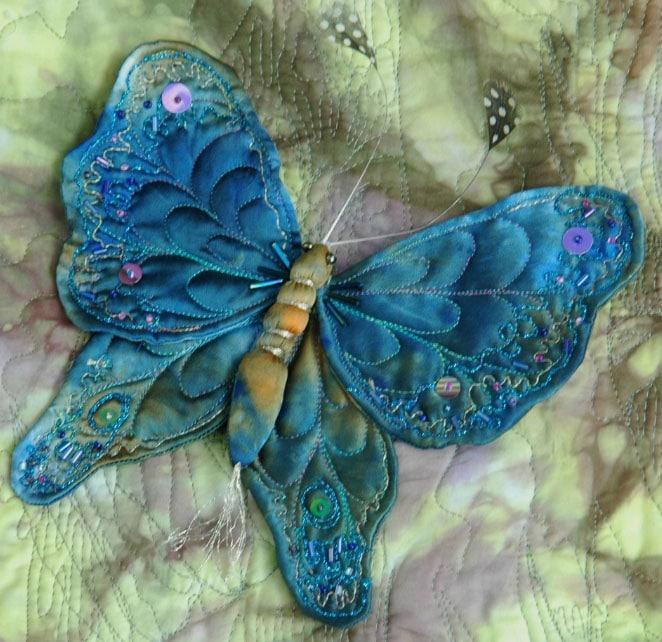 Бабочки из ткани для штор