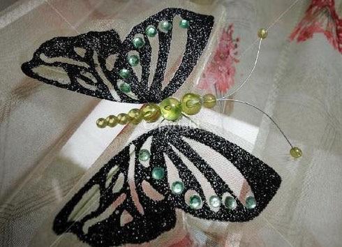 бабочка для штор самодельная