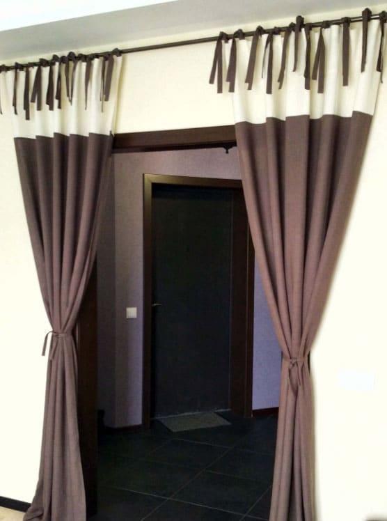 шторы на дверной проем