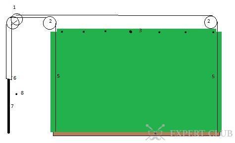 Схема устройства для открытия гаражной шторы