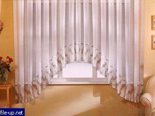 Штора-арка с вышивкой