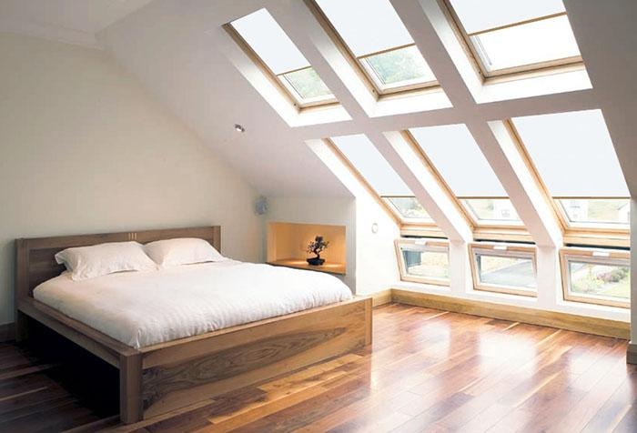 Автоматические шторы на мансардных окнах