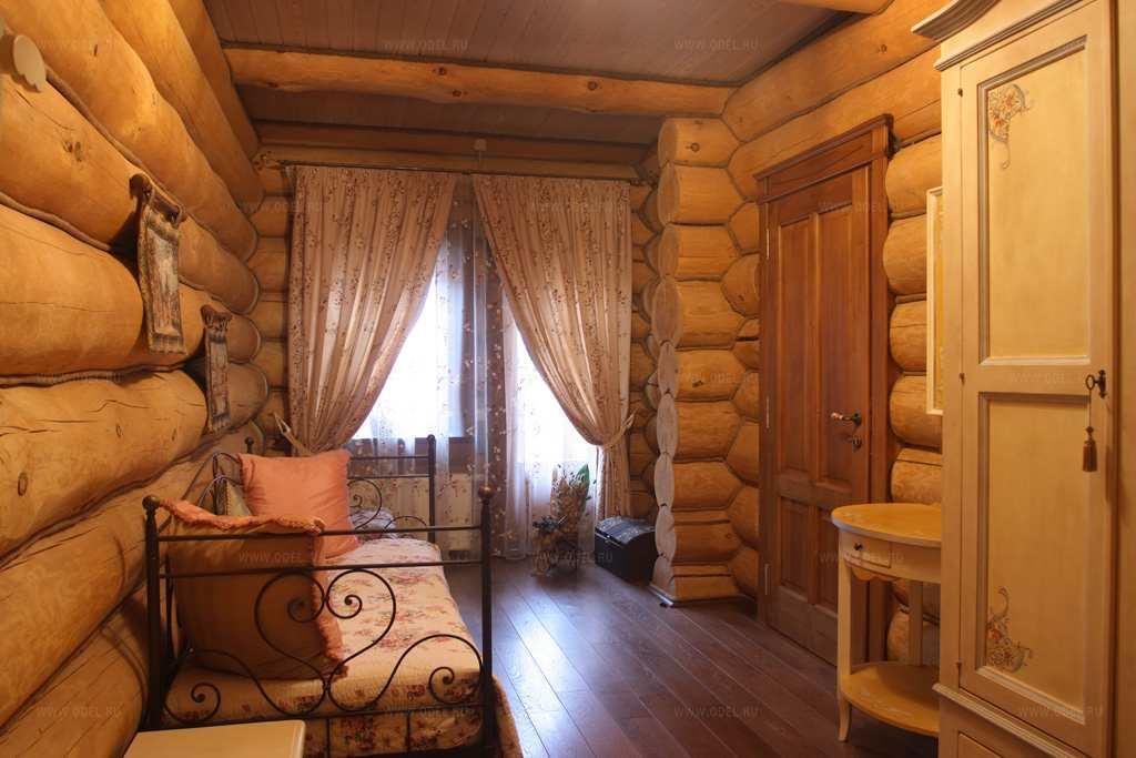 В деревянных домах чаще всего используется стиль кантри
