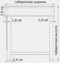 Замер рулонно-кассетной шторы