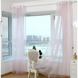 Elegant-Pink-Color-Organza-Patio-Door-Sheer-Curtain-CHS12764-1