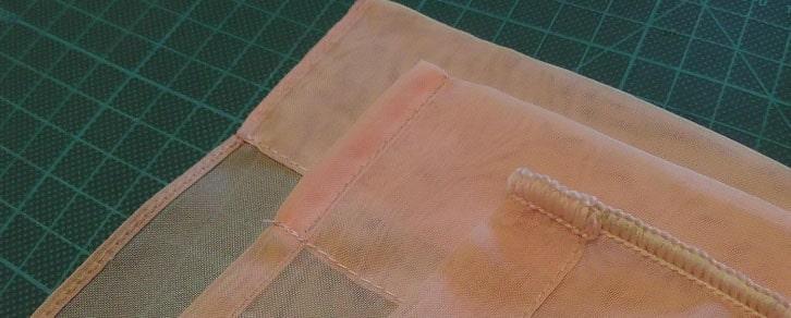 Обработка края шторы обычным швом