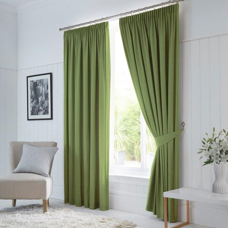зеленые шторы блэкаут